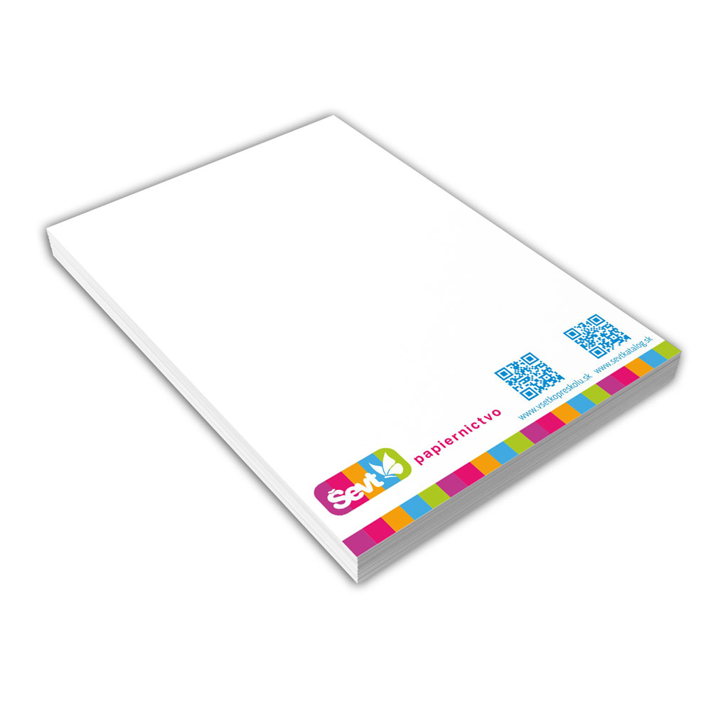 Blok A6 čistý, 100 l., lepený - mix dizajnov