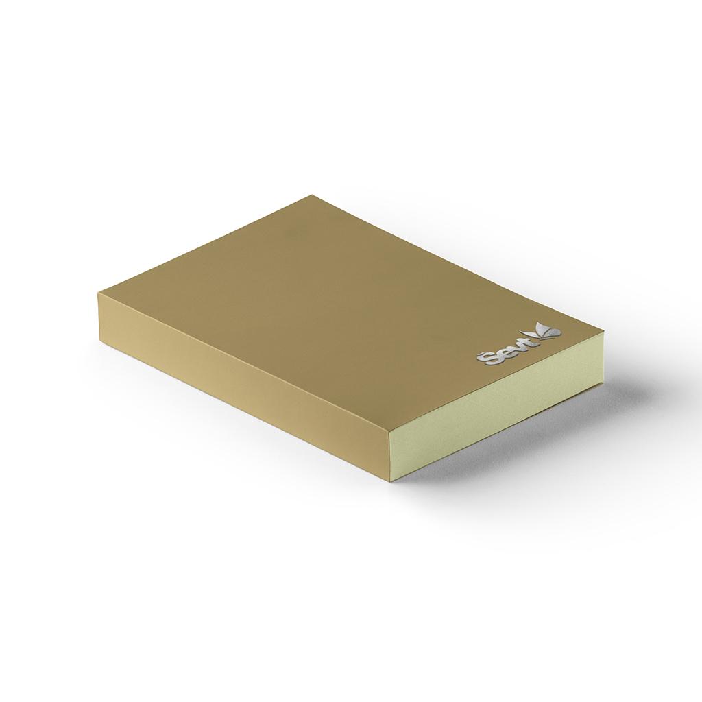 Blok A5 čistý, 200 l., šitý s prebalom - bright brown