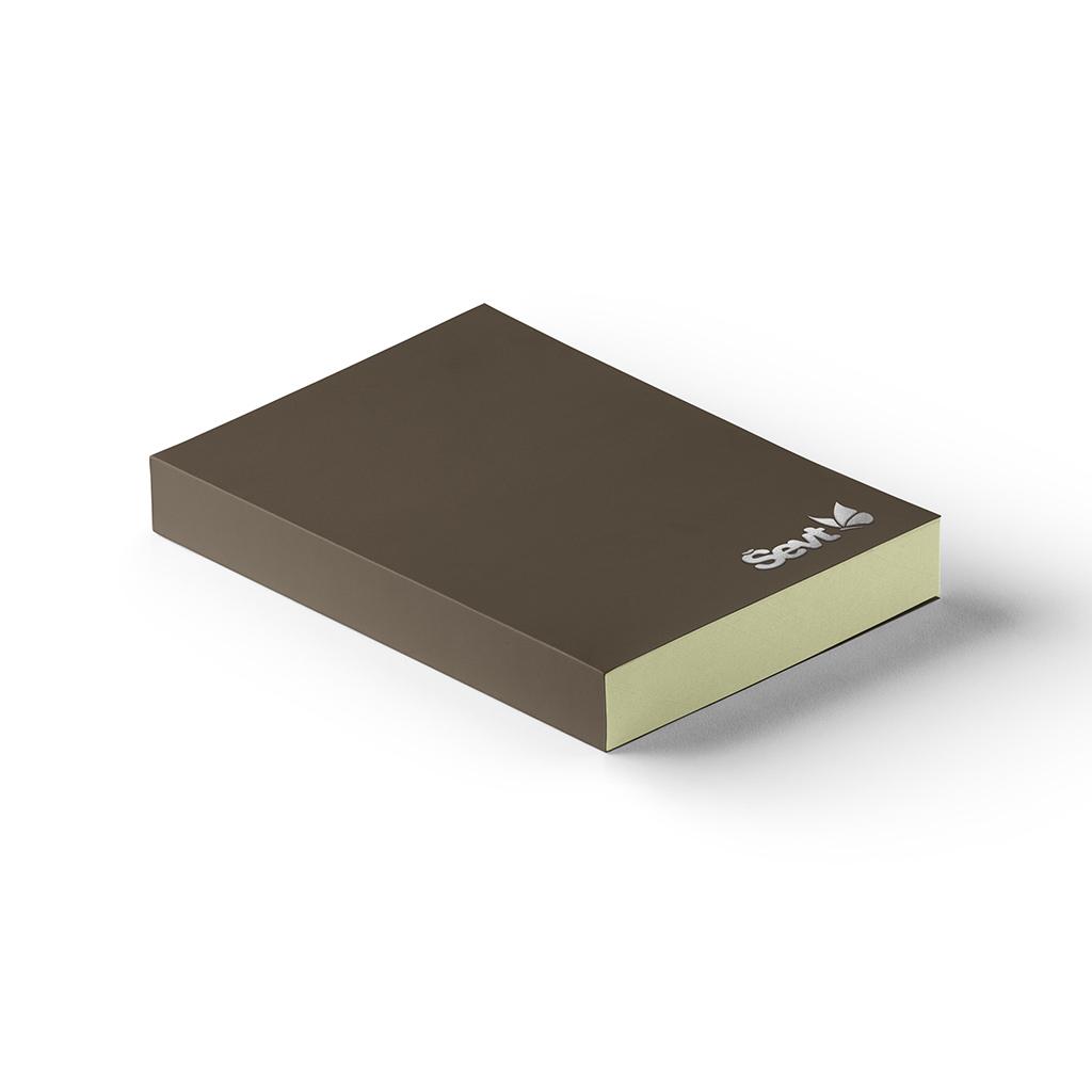 Blok A5 čistý, 200 l., šitý s prebalom - dark brown