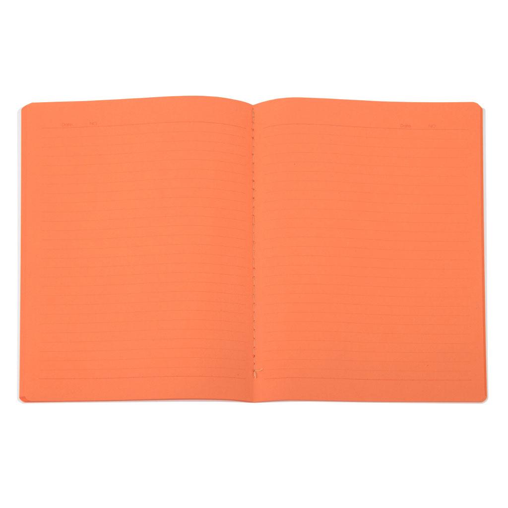 Zápisník B5 linajkový, 48l., farebné vnútorné listy - oranžová