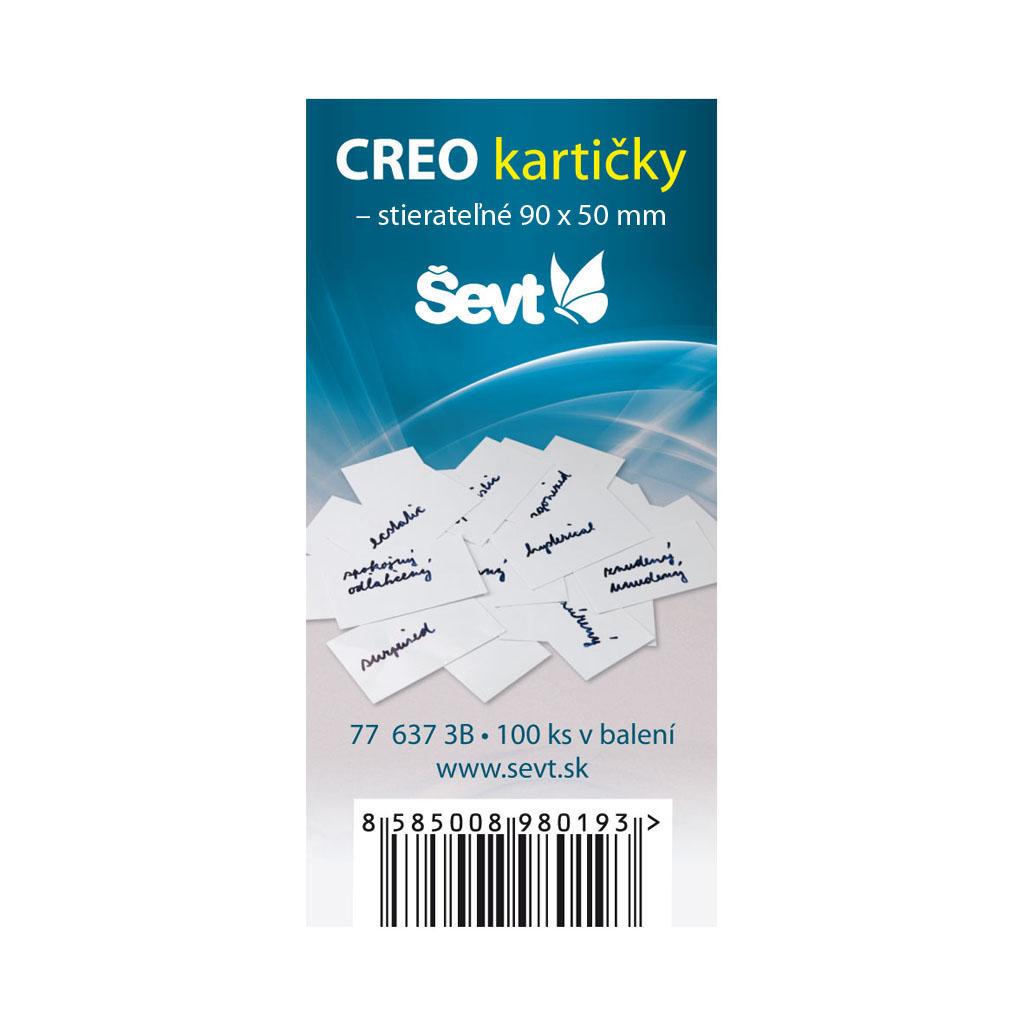 CREO kartička (9 x 5 cm) - 100 ks/bal.