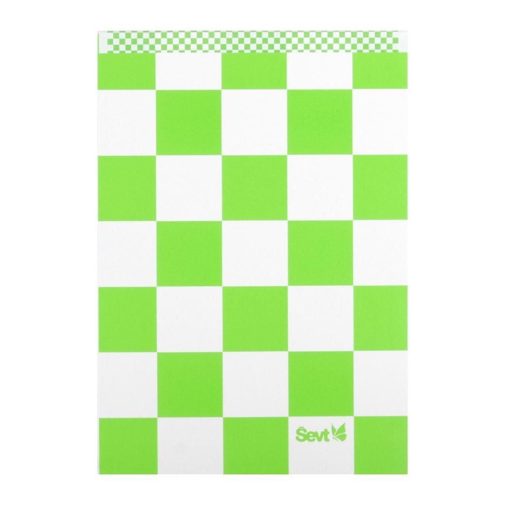 Blok A4 linajkový,  300 list. - Štvorčeky reflex. zelené