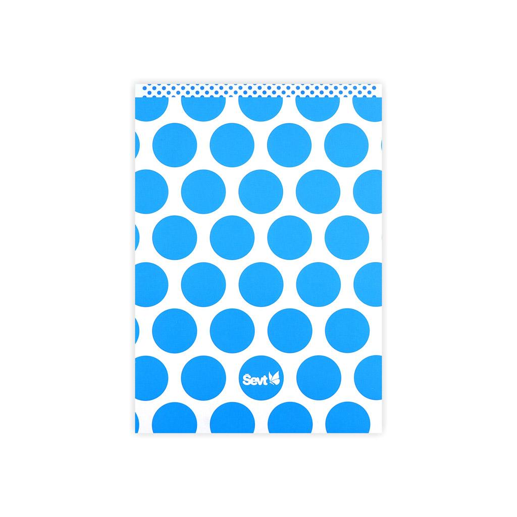 Blok A5 linajkový, 150 list. - Bodkovaná reflexná, modrá