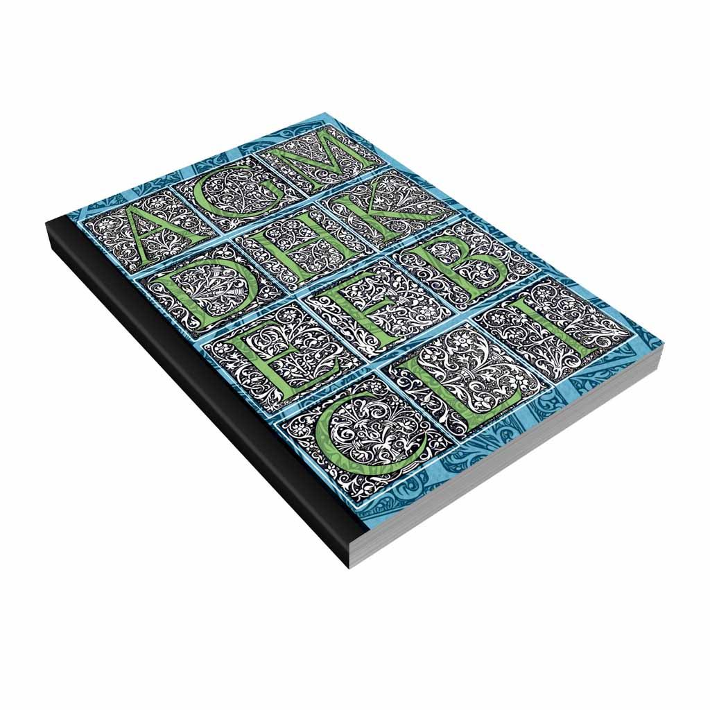 Blok A5 linajkový, 200 l., lepený - abeceda