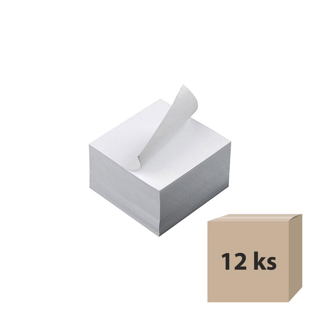 Lepené bločky, 85x85x50mm - biele, 12 ks