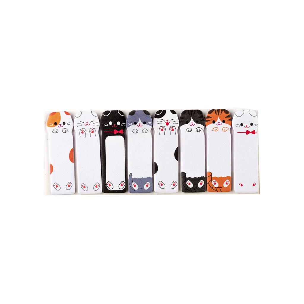 """Samolepiace záložky 48x15mm, 8 farieb x 15 listov - """"Mačky"""""""