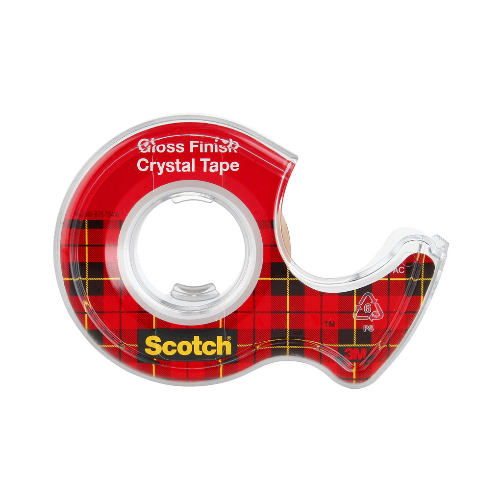 3M Crystal Scotch lepiaca páska s dispenzorom, 19 mm x 7,5 m