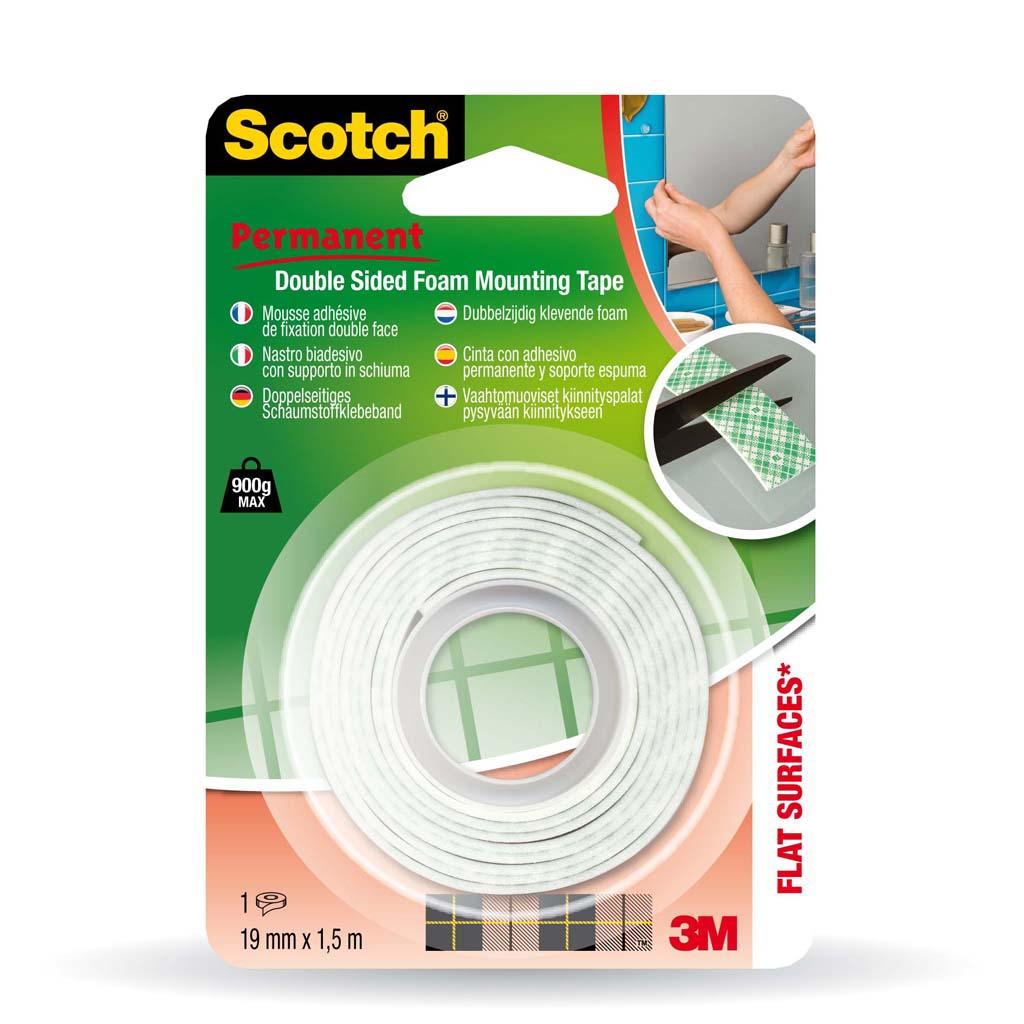 3M Scotch penová obojstranná montážna lepiaca páska, 19mm x 1,5m