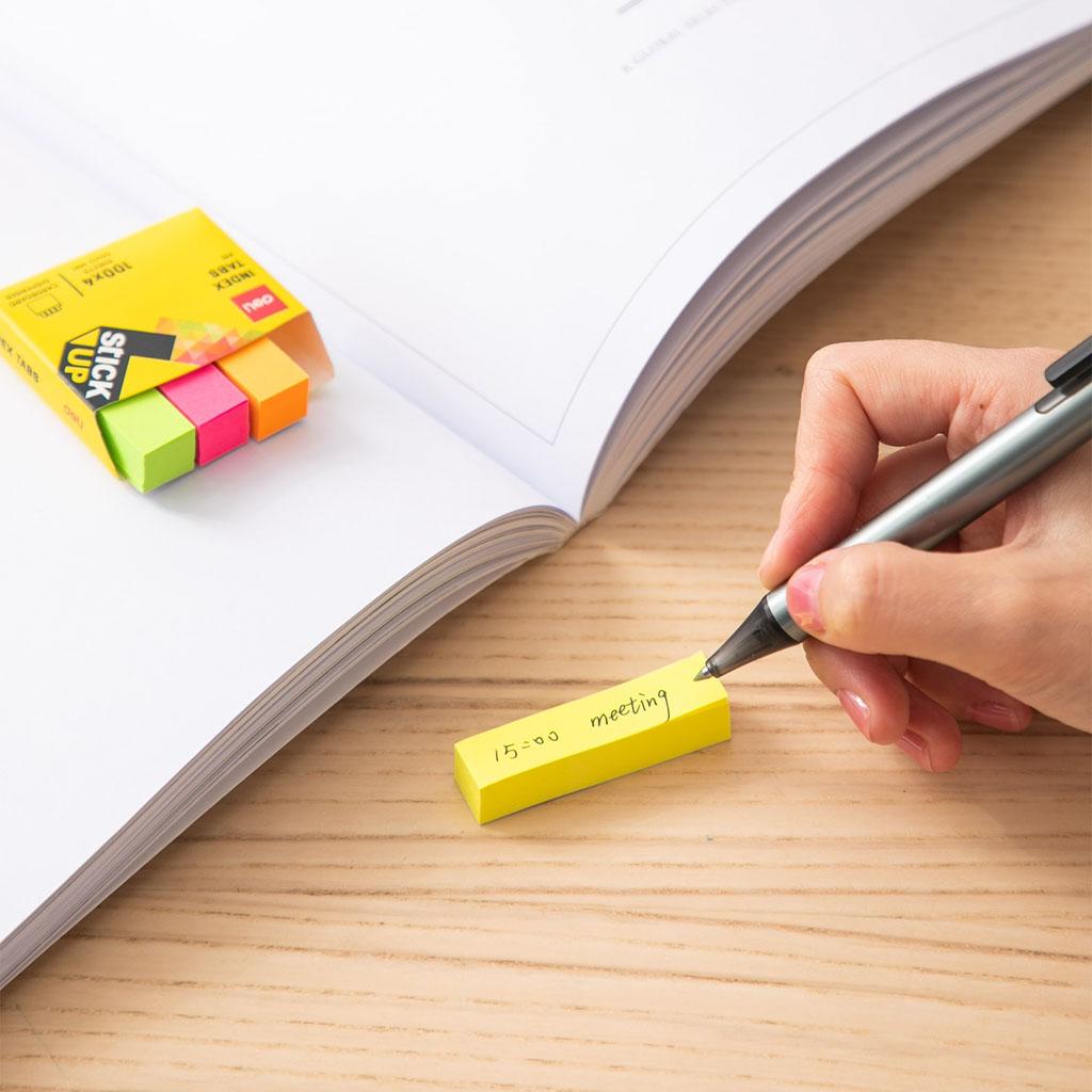 Deli Samolepiace záložky 50x12mm, 4 farby x 100 listov - mix farieb