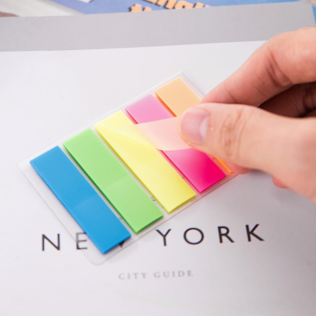 Deli Samolepiace záložky 44x12mm, 5 farieb x 20 listov - mix farieb