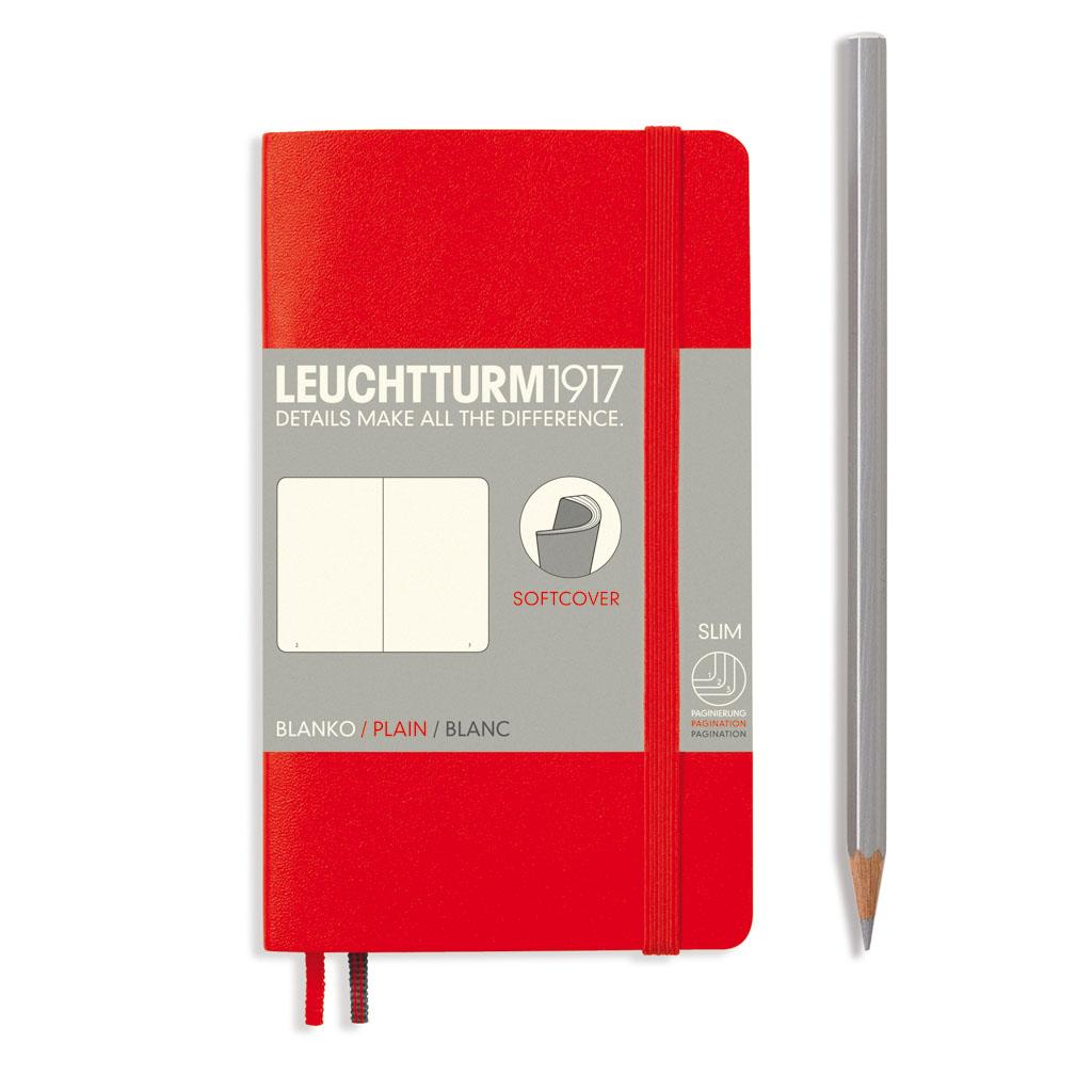 LT Blok Softcover Pocket čistý /121 s. - červený (A6 - 90x150 mm)