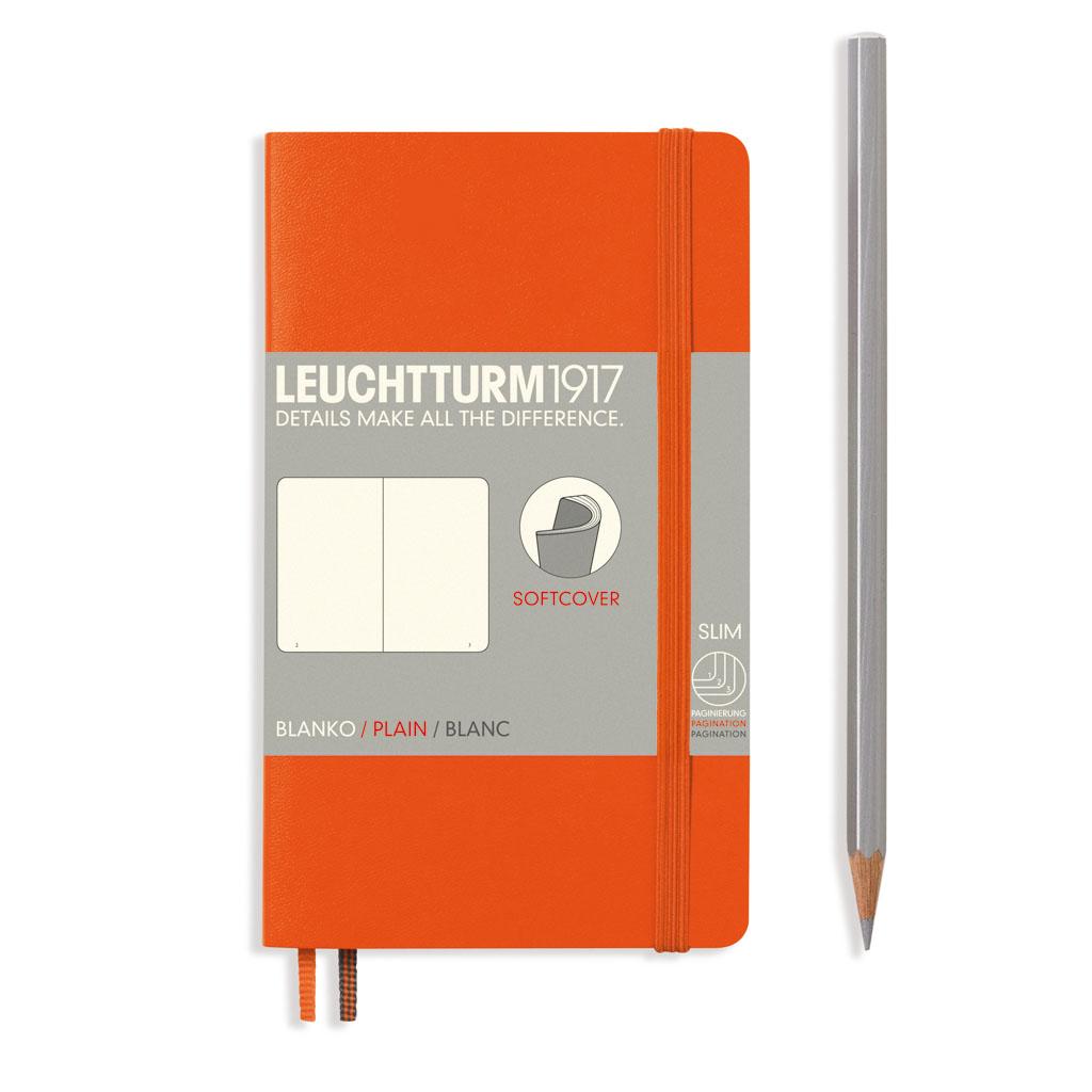 LT Blok Softcover Pocket čistý /121 s. - oranžový (A6 - 90x150 mm)