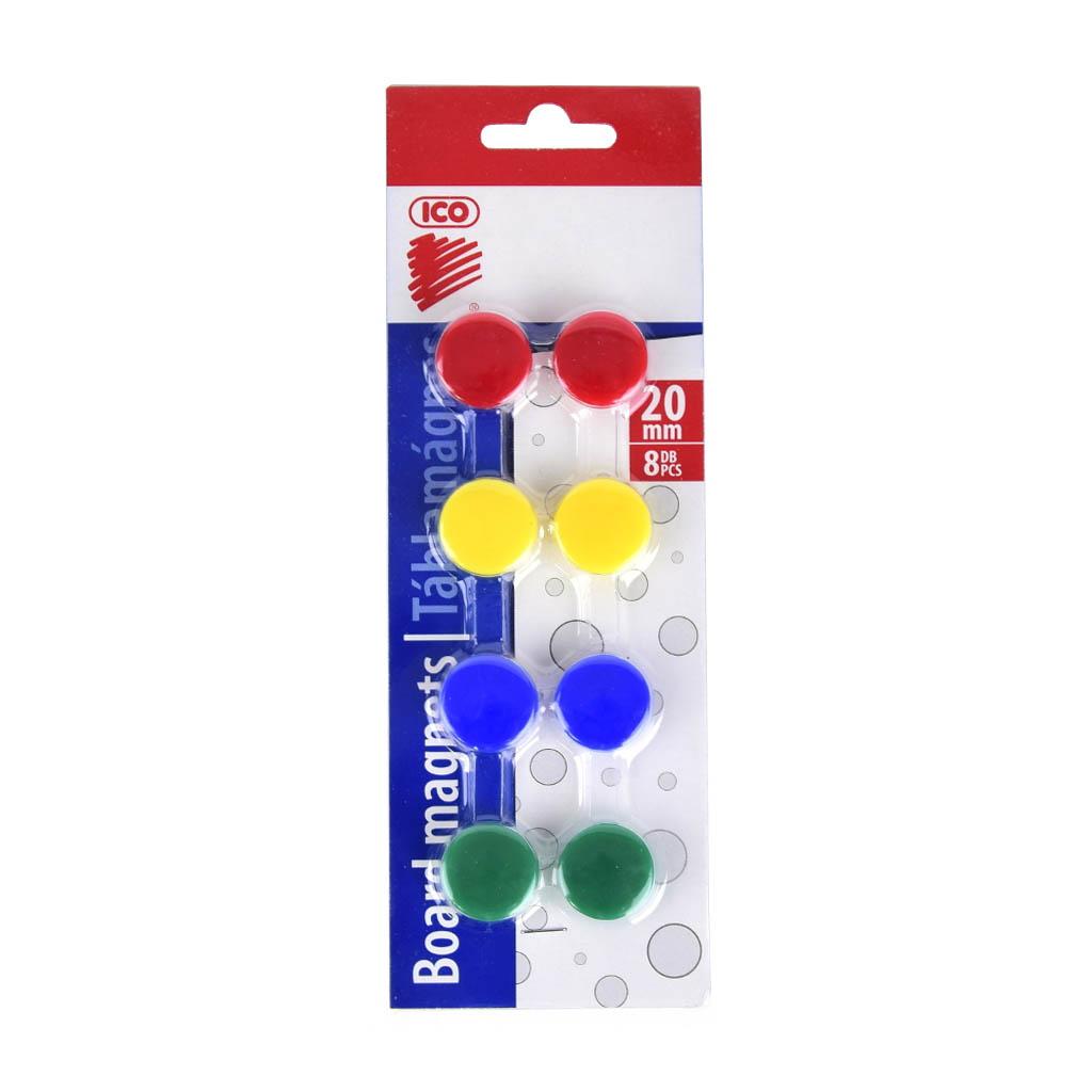 Magnet farebný 20mm / 8 ks v bal. - mix farieb