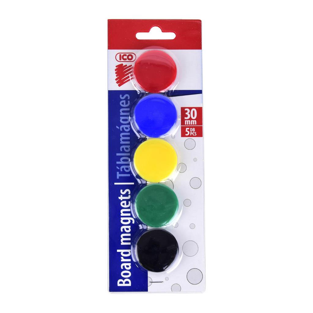 Magnet farebný 30 mm / 5 ks v bal. - mix farieb