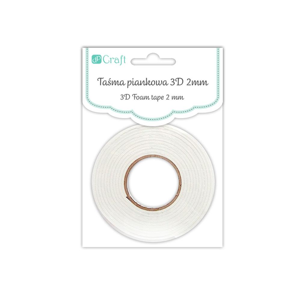 3D Obojstranná penová páska 2 mm, 0,5 cm x 2,2 m