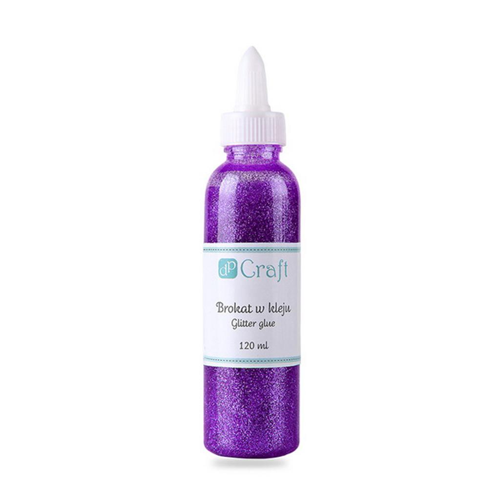 Dekoračné glitrové lepidlo, 120 ml, purpurové