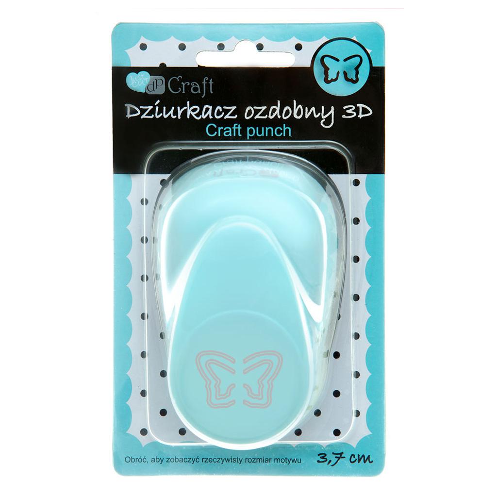 """Dekoračný dierovač 3D,  3,7 cm, """"motýľ"""""""
