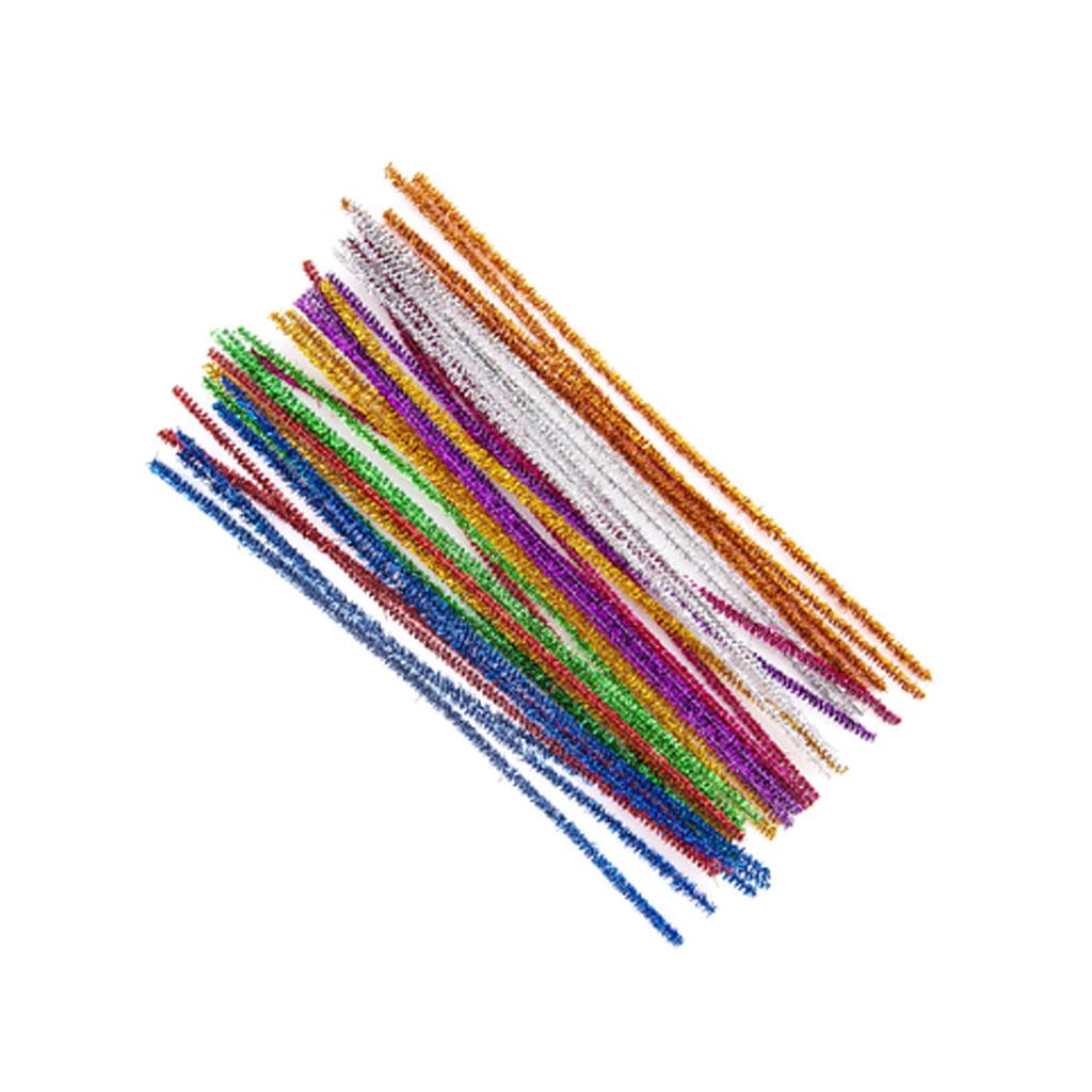 Dekoračné žinilkové drôtiky 30 cm, 40 ks, mix farieb
