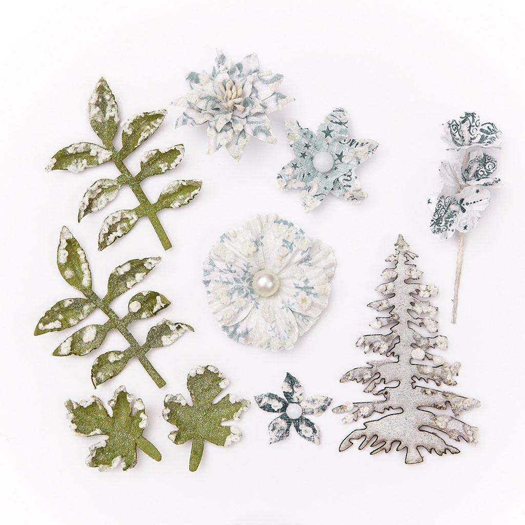 Dekoračné papierové kvety - mix, 10 ks