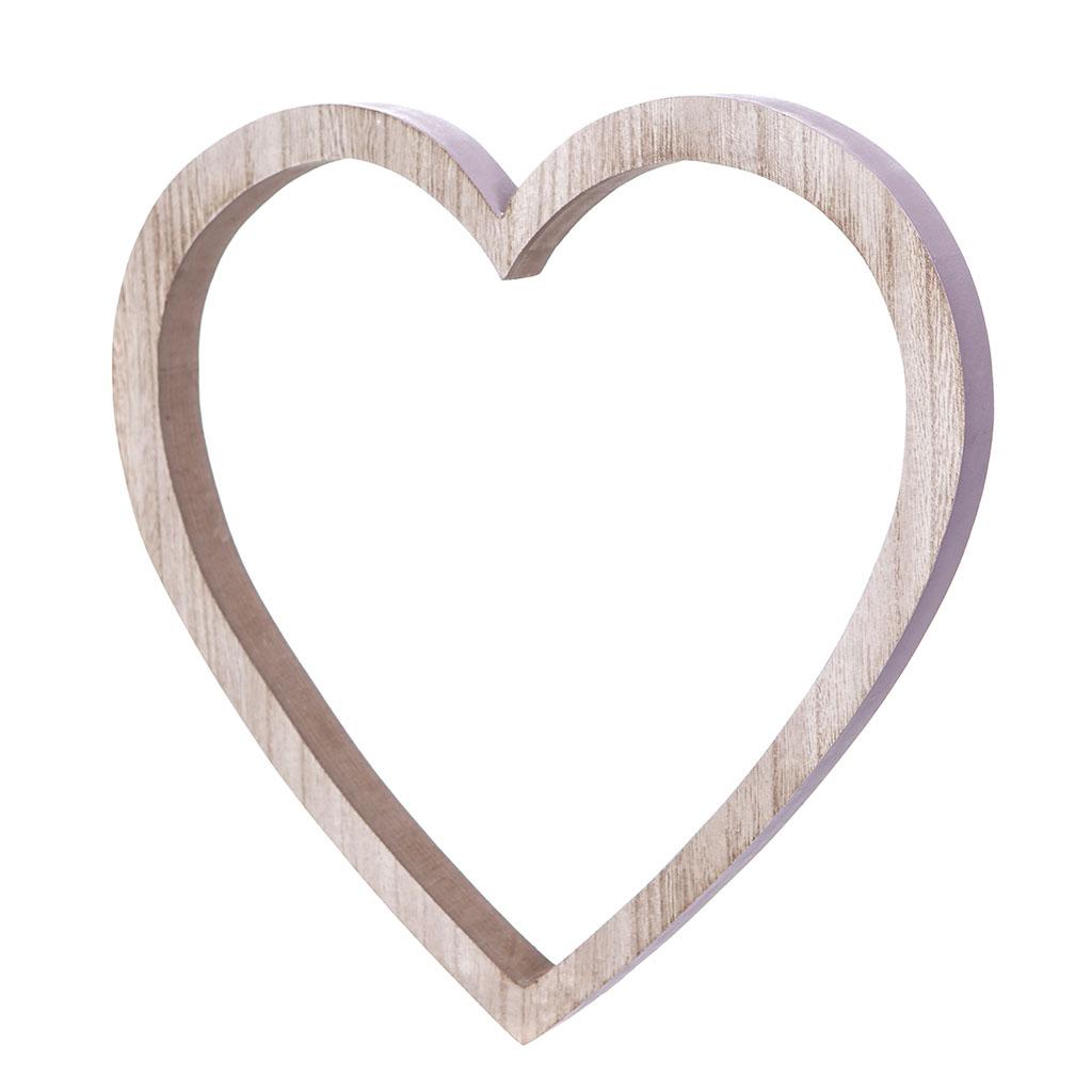 """Drevená dekorácia """"srdce"""" 2x29 cm"""