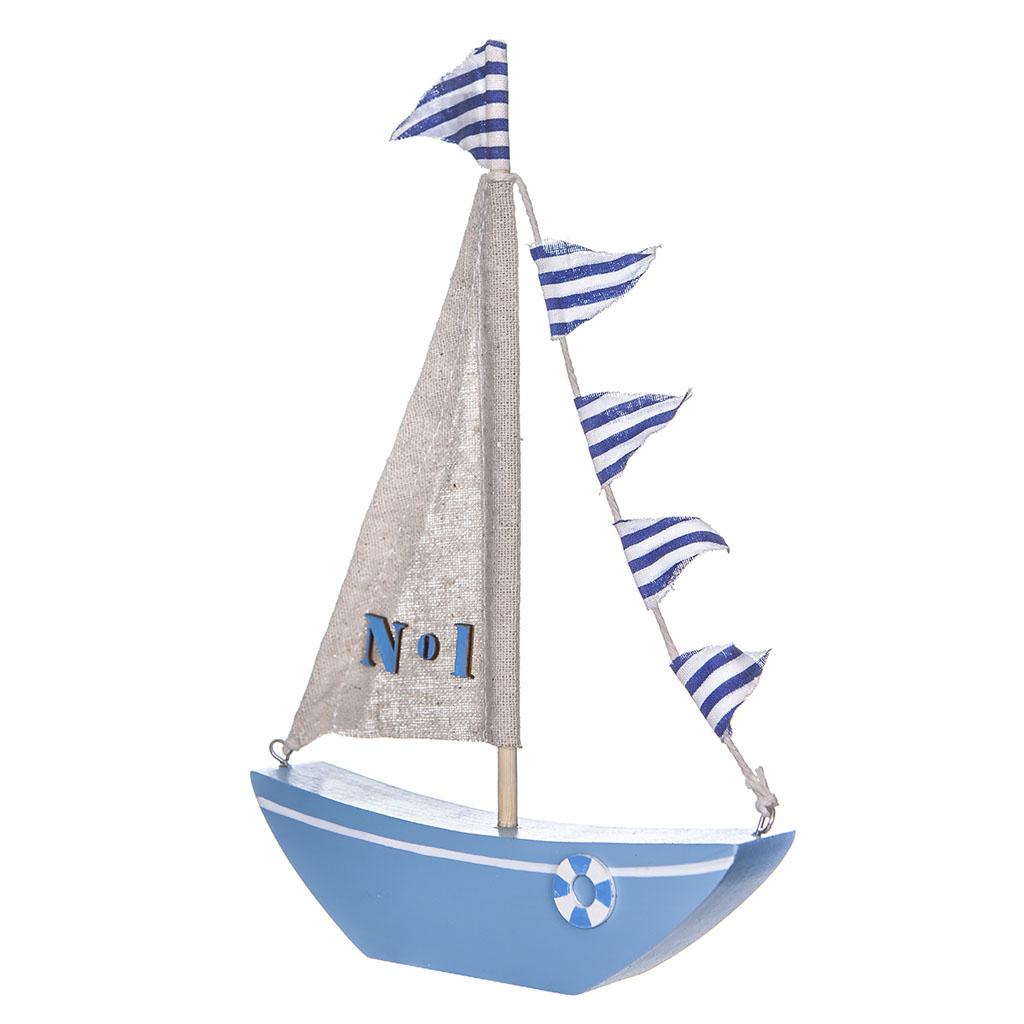 """Drevená dekorácia """"loď"""" 15x22 cm"""
