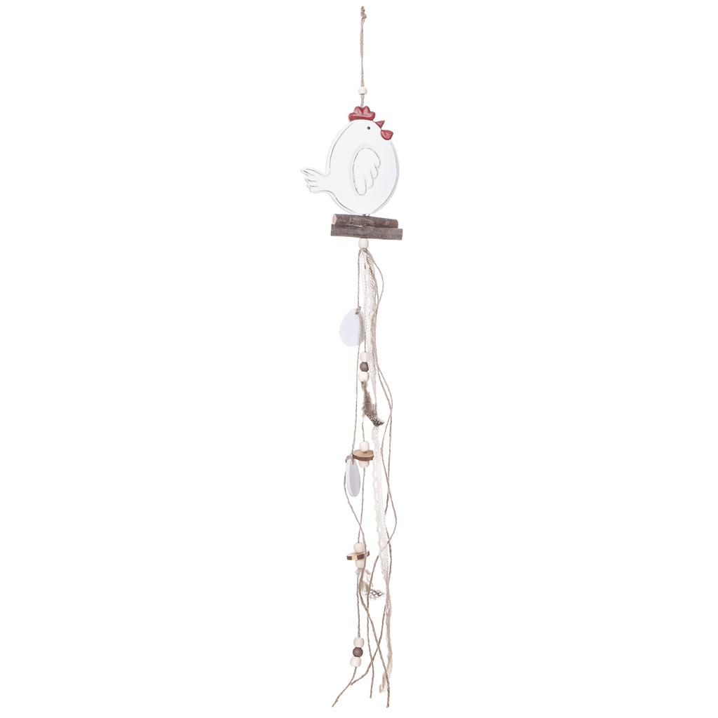 """Drevená dekorácia """"sliepka"""" 62x11 cm"""