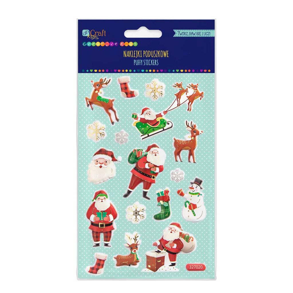 """Penové nálepky """"Santas"""", 17 ks"""