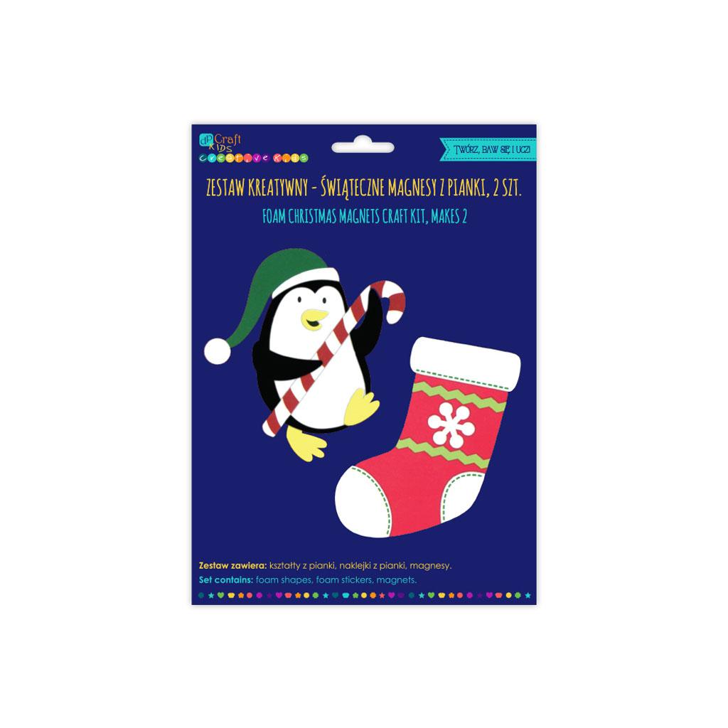 Penové magnetky, súprava 2 vianočných motívov