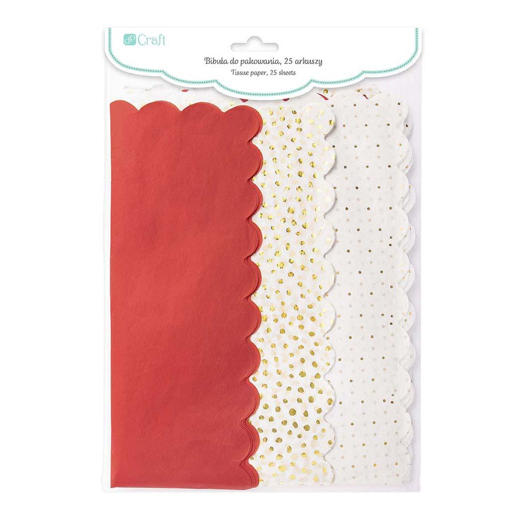 Papier hodvábny, 39 x 58 cm, 25 ks - červený