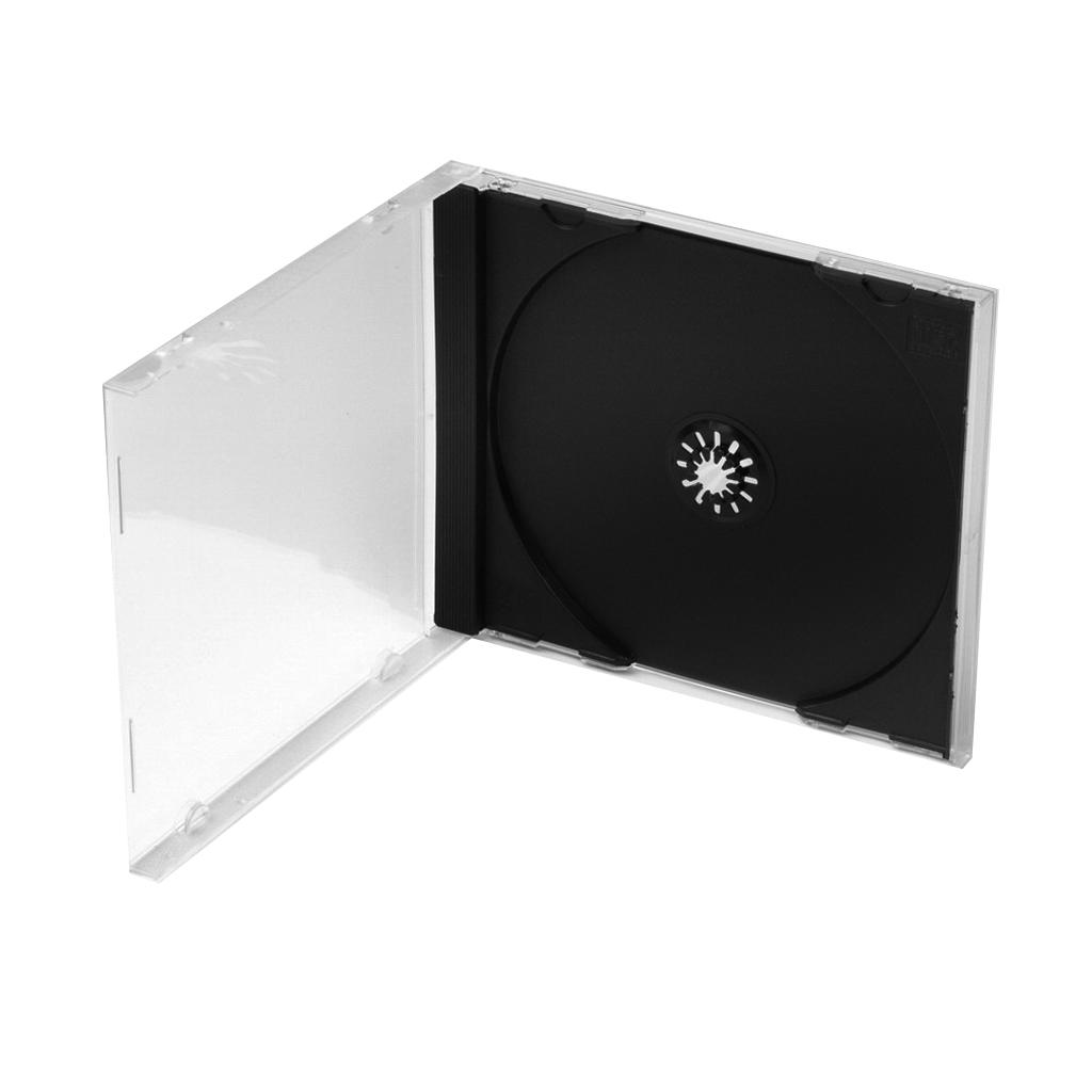 Obal plast. na 1ks CD jewel 10,4mm - priehľadný, zadná strana čierna