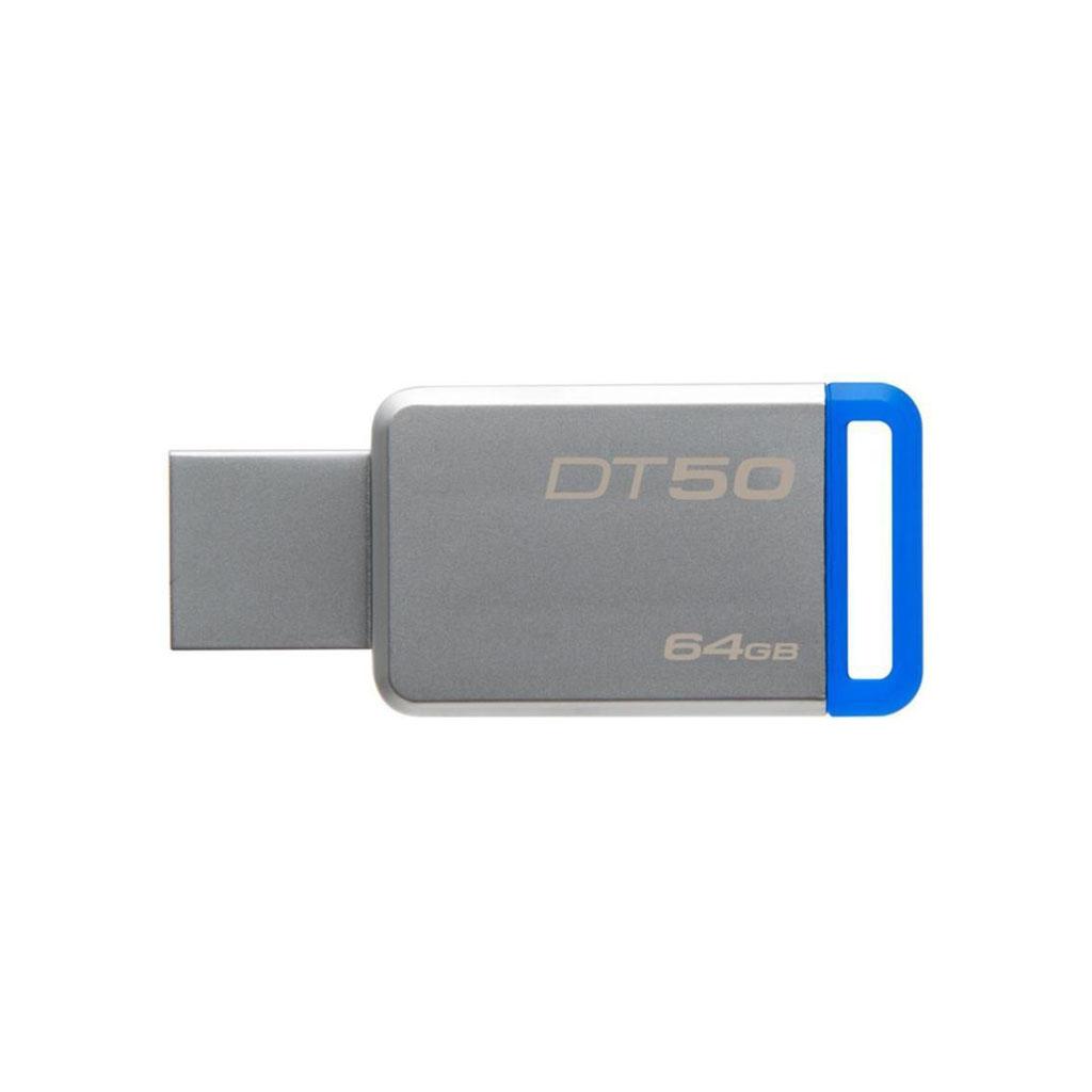 USB kľúč 64GB Kingston USB 3.0 DataTraveler 50, kovový, modrý