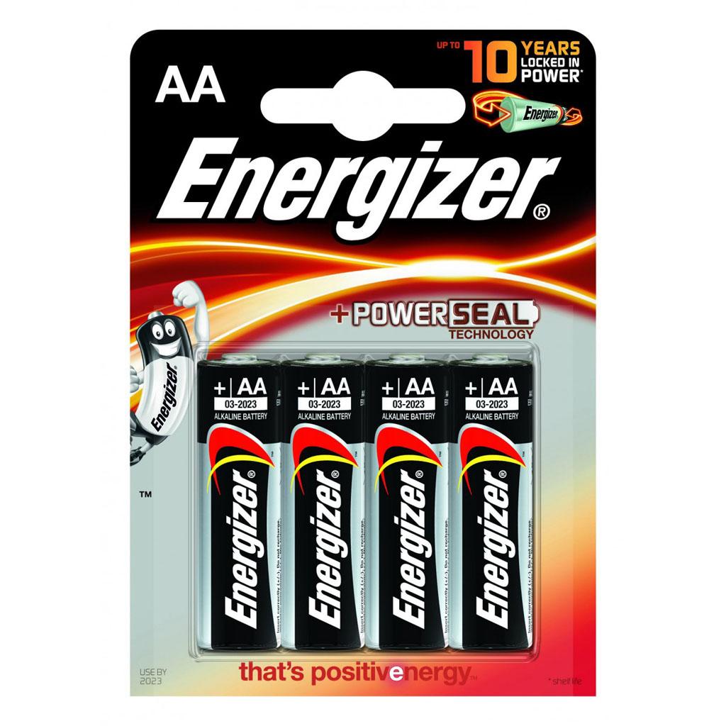 Energizer Batérie AA LR6 alkalické / 4 ks v blistri