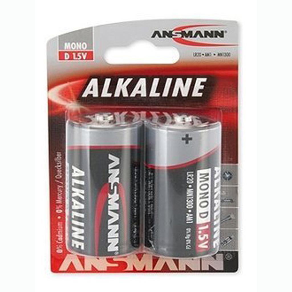 Ansmann Batérie Mono LR20 1,5 V alkalická / 2 ks v blistri