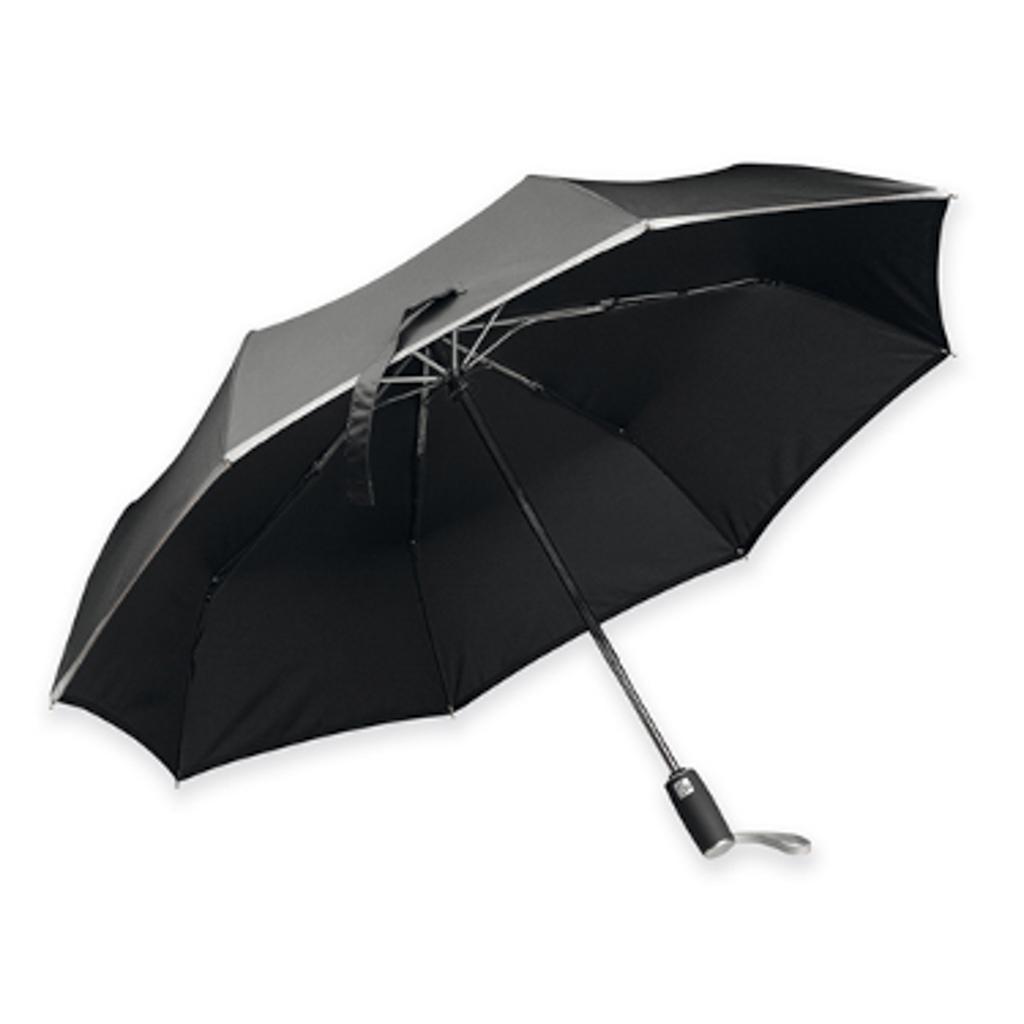 Reflexný dáždnik Santini, skladací, čierny