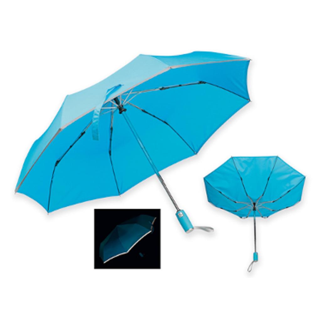 Reflexný dáždnik Santini, skladací, modrý