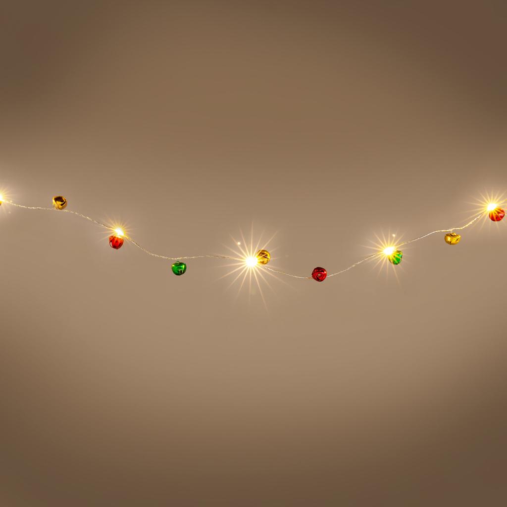 Vianočná dekorácia RXL 325, 40 LED, rolničky kovové, teplá biela
