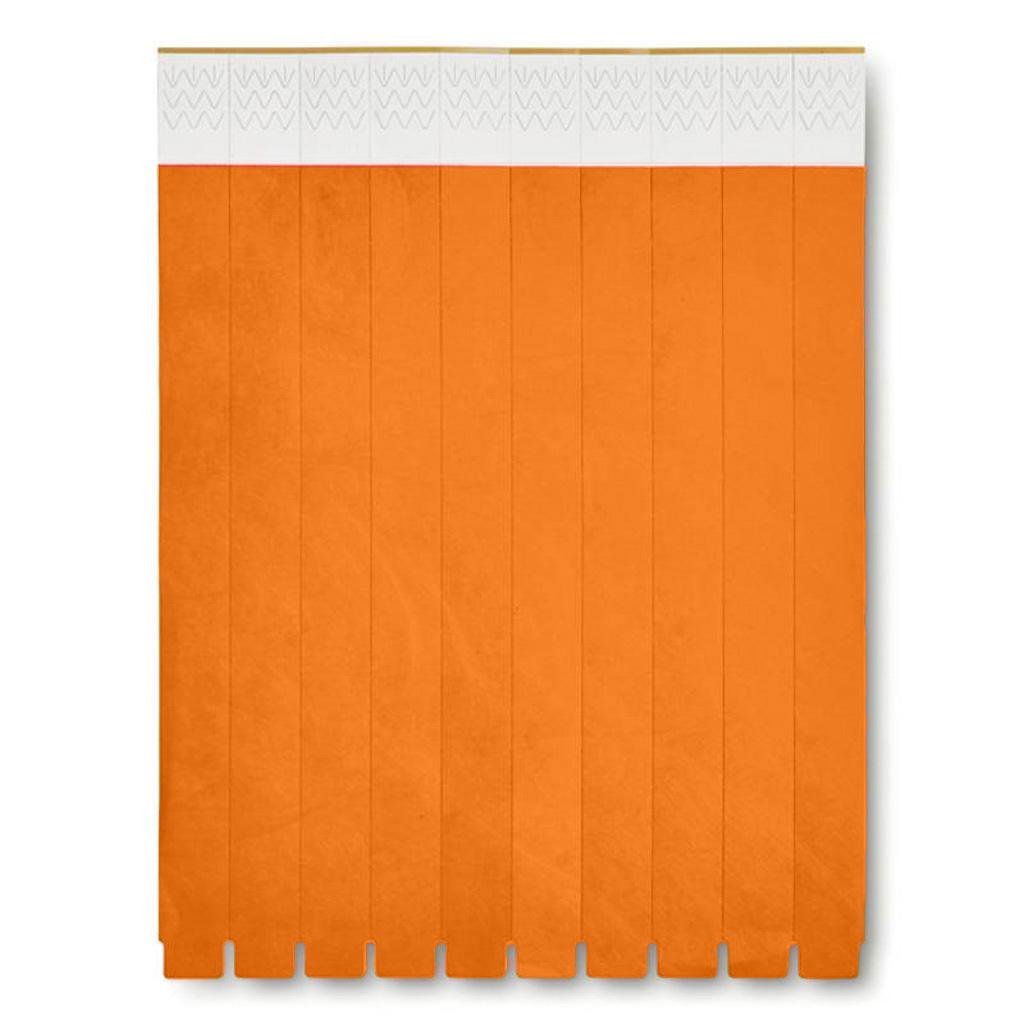 Papierové náramky Tyvek 1,9 cm, oranžová / 10ks