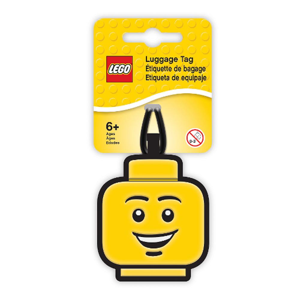 Visačka na batožinu - LEGO ICONIC, hlava chlapca