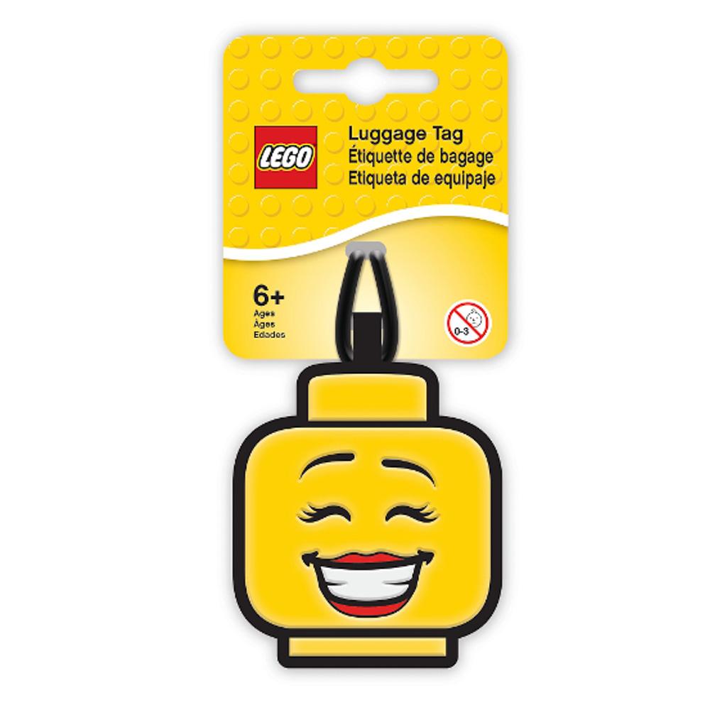 Visačka na batožinu - LEGO ICONIC, hlava dievčaťa