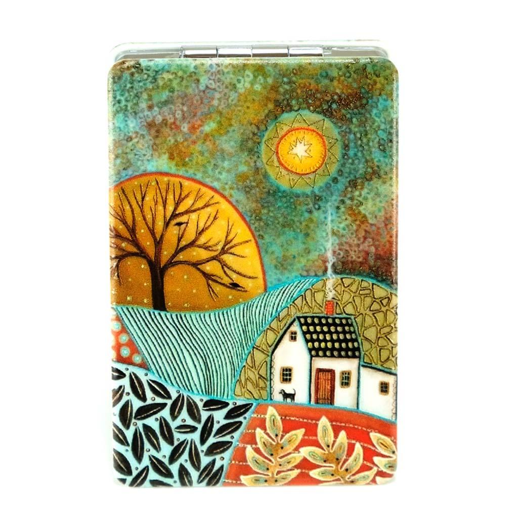 """Zrkadielko """"krajina"""", rozmer 9,3 x 6,2 cm, mix motívov"""