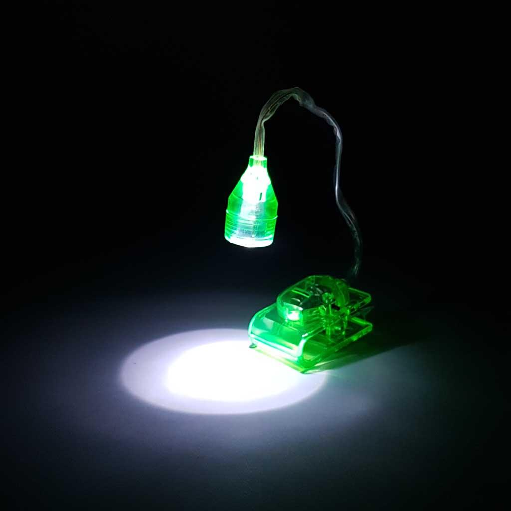 Lampa na čítanie s klipom, flexibilná, mix farieb