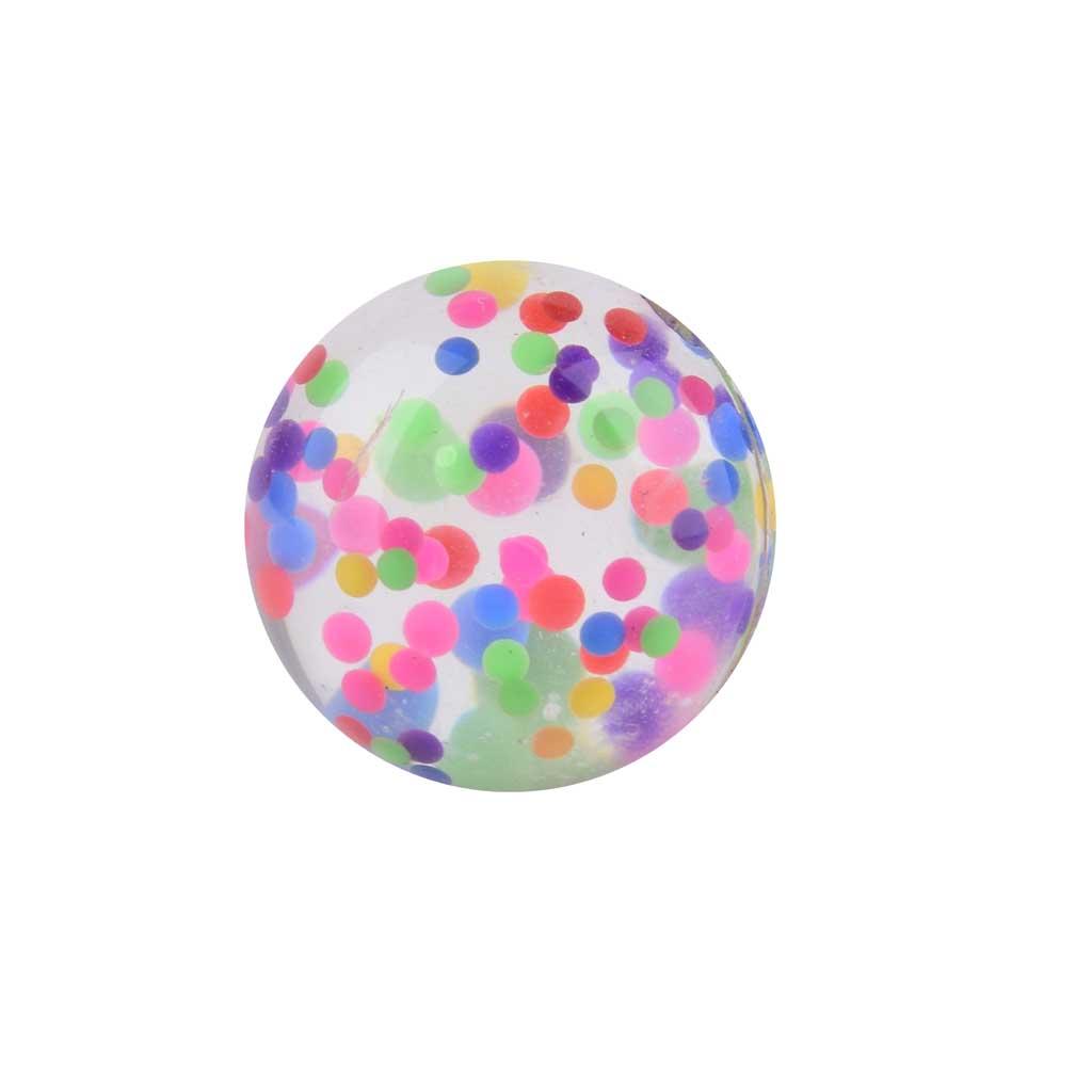 "Gumená skákacia lopta ""Funny Dots"", 43mm"