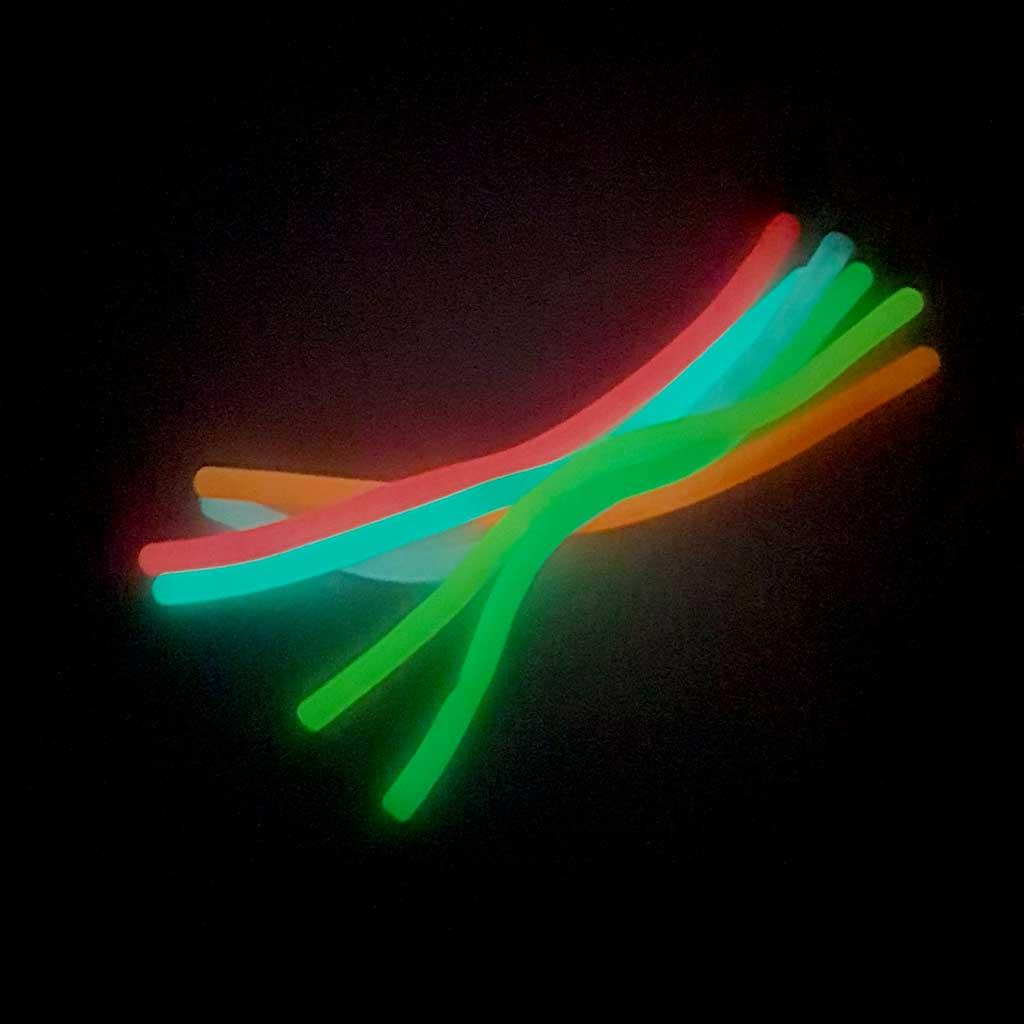 Svietiaca šnúrka v tme, mix farieb