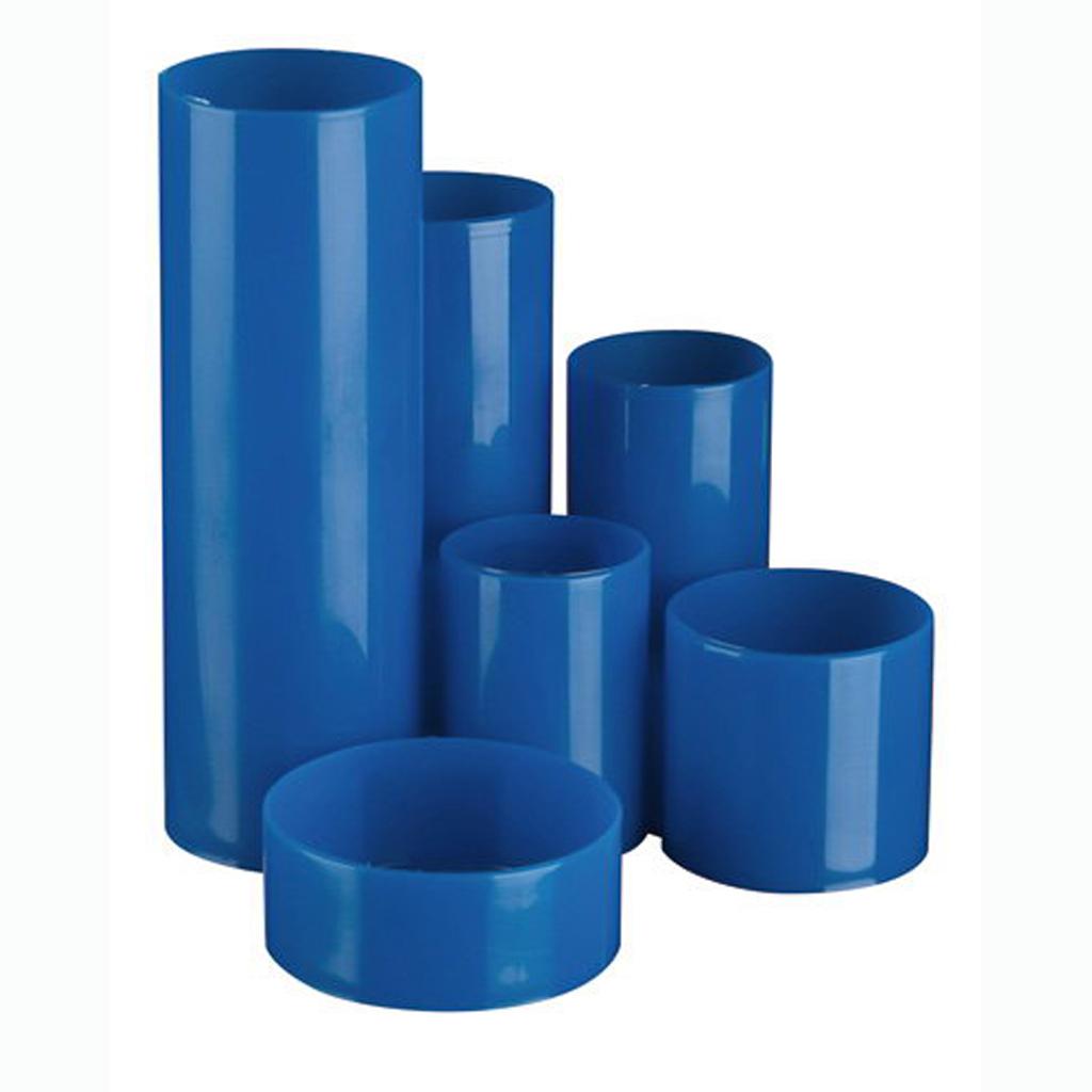 Stojan na perá POLYTUBE guľatý – modrá