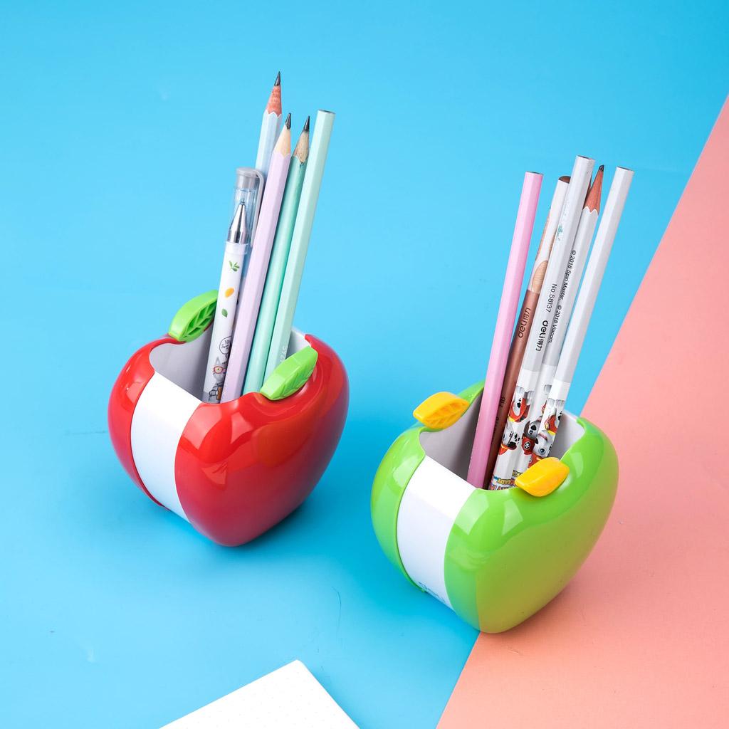 Deli Stojan na písacie potreby, jablko - mix farieb