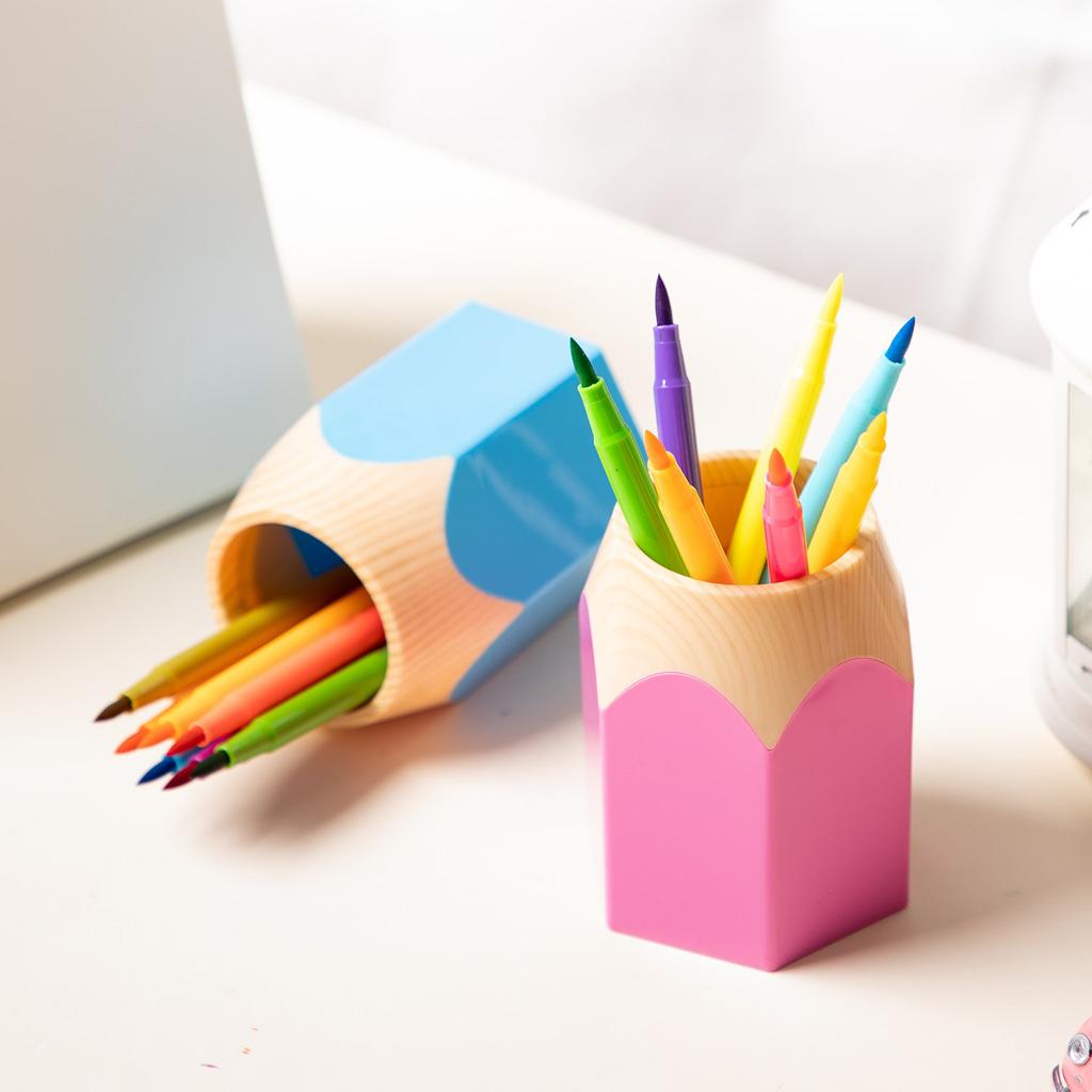 Deli Stojan na písacie potreby, ceruzka - mix farieb