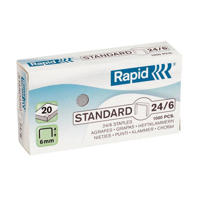 Rapid Spony zošívacie Standard 24/6, 20l., F4, F6