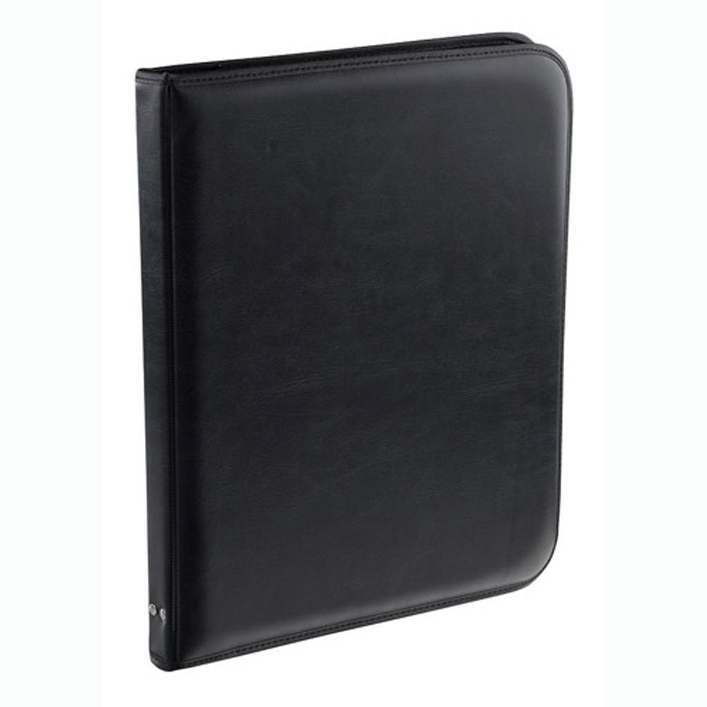 Portfólio A4 čierne so zipsom, 4 krúžk. mechanika / 5-607/