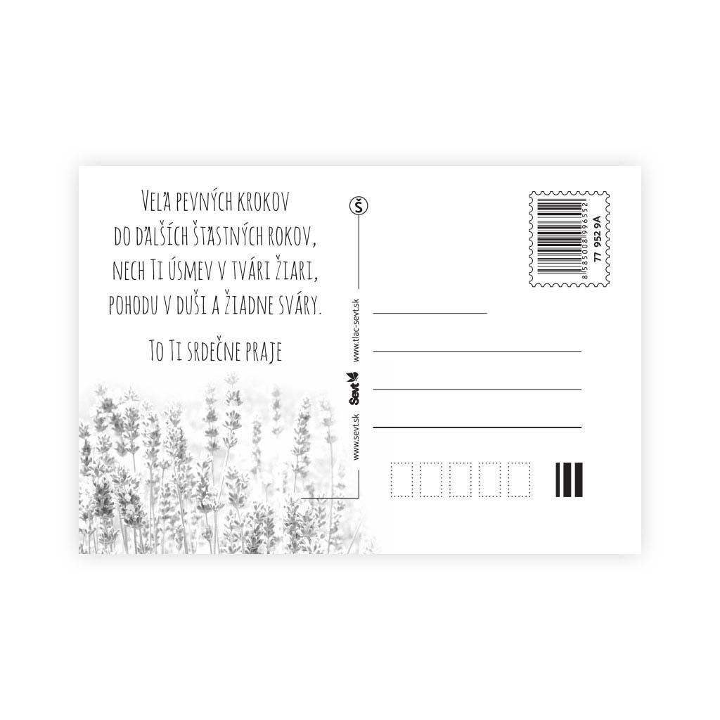 Pohľadnica ŠEVT s textom, mix motívov
