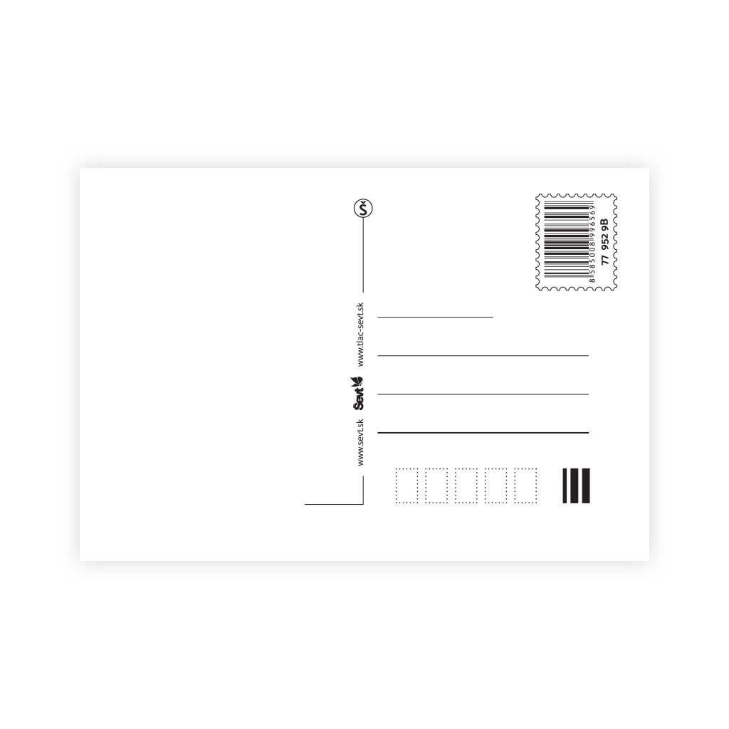Pohľadnica ŠEVT bez textu, mix motívov